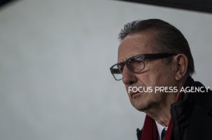 Head coach Georges Leekens of Hungary watches the match during friendly football match between Hungary and Kazakhstan at Groupama Arena on March 23, 2018 in Budapest, Hungary.