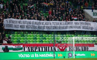 Hungarian supporters before the friendly football match between Hungary and Scotland at Groupama Arena on March 27, 2018 in Budapest, Hungary.