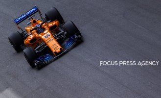 Fernando Alonso of Spain and McLaren Honda Team driver goes during the first practice at Formula One Azerbaijan Grand Prix on April 27, 2018 in Baku, Azerbaijan.