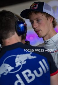 Brendon Hartley of New Zealand and Toro Rosso Team driver goes during the second practice at Formula One Azerbaijan Grand Prix on April 27, 2018 in Baku, Azerbaijan.