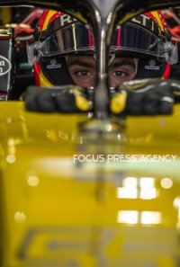 Carlos Sainz of Spain and Renault Team driver goes during the second practice at Formula One Azerbaijan Grand Prix on April 27, 2018 in Baku, Azerbaijan.