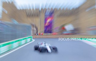 Lance Stroll of Canada and Williams Team driver goes during the third practice at Formula One Azerbaijan Grand Prix on April 28, 2018 in Baku, Azerbaijan.