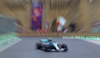 Lewis Hamilton of Great Britain and Mercedes Team driver goes during the third practice at Formula One Azerbaijan Grand Prix on April 28, 2018 in Baku, Azerbaijan.