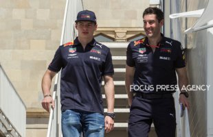 Max Verstappen of Netherland and Red Bull Racing driver arrives to paddock before practice session at Azerbaijan Formula 1 Grand Prix on Apr 27, 2018 in Baku, Azerbaijan.