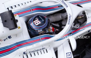Lance Stroll of Canada and Williams Martini Racing driver goes during the practice session at Azerbaijan Formula 1 Grand Prix on Apr 27, 2018 in Baku, Azerbaijan.