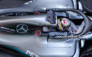 Lewis Hamilton of Great Britain and Mercedes AMG Petronas driver goes during the practice session at Azerbaijan Formula 1 Grand Prix on Apr 27, 2018 in Baku, Azerbaijan.