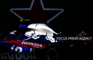 Pierre Gasly of France and Toro Rosso Team driver goes during the third practice at Formula One Azerbaijan Grand Prix on April 28, 2018 in Baku, Azerbaijan.