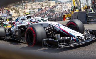 Sergey Sirotkin of Russia and Williams Team driver goes during the practice at Grand Prix de Monaco on May 26, 2018 in Monte Carlo, Monaco.