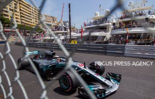Lewis Hamilton of Great Britain and Mercedes Team driver goes during the practice at Grand Prix de Monaco on May 26, 2018 in Monte Carlo, Monaco.