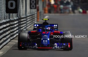 Pierre Gasly of France and Toro Rosso Team driver goes during the practice at Grand Prix de Monaco on May 26, 2018 in Monte Carlo, Monaco.