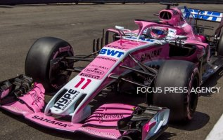 Sergio Perez of Mexico and Force India Team driver goes during the qualification at Grand Prix de Monaco on May 26, 2018 in Monte Carlo, Monaco.