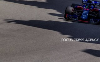 Brendon Hartley of New Zealand and Toro Rosso Team driver goes during the practice at Grand Prix de Monaco on May 26, 2018 in Monte Carlo, Monaco.