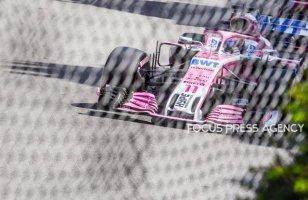 Sergio Perez of Mexico and Force India Team driver goes during the practice at Grand Prix de Monaco on May 26, 2018 in Monte Carlo, Monaco.
