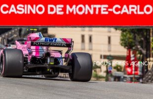 Esteban Ocon of French and Force India Team driver goes during the practice at Grand Prix de Monaco on May 26, 2018 in Monte Carlo, Monaco.