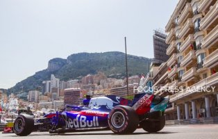 Pierre Gasly of France and Toro Rosso Team driver goes during the qualification at Grand Prix de Monaco on May 26, 2018 in Monte Carlo, Monaco.