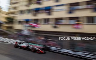 Romain Grosjean of France and Haas F1 Team driver goes during the race on Formula 1 Grand Prix de Monaco on May 27, 2018 in Monte Carlo, Monaco.