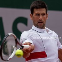 Novak Djokovic of Serbia returns the ball to Jaume Munar of Spain during the second round at Roland Garros Grand Slam Tournament - Day 4 on May 30, 2018 in Paris, France.