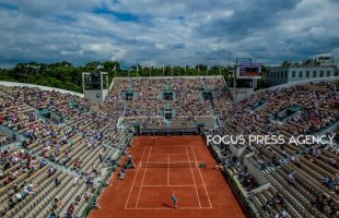 View from the rooftop of Suzanne Lenglen during the second round at Roland Garros Grand Slam Tournament - Day 4 on May 30, 2018 in Paris, France.