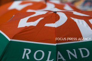Raining at Roland Garros Grand Slam Tournament - Day 6 on June 01, 2018 in Paris, France.