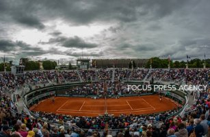 Court N1 during the match of Matteo Berrettini of Italy and Dominic Thiem of Austria during the third round at Roland Garros Grand Slam Tournament - Day 6 on June 01, 2018 in Paris, France.