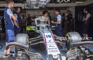 Lance Stroll of Canada and Williams Martini Racing driver before the qualification at Austrian Formula One Grand Prix on Jun 30, 2018 in Red Bull Ring, Spielberg, Austria.