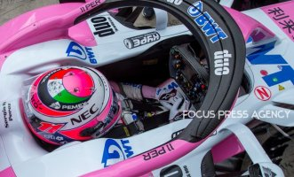 Sergio Perez of Mexico and Sahara Force India driver goes during the qualification at Austrian Formula One Grand Prix on Jun 30, 2018 in Red Bull Ring, Spielberg, Austria.