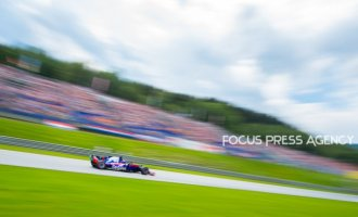 Pierre Gasly of France and Toro Rosso driver goes during the qualification at Austrian Formula One Grand Prix on Jun 30, 2018 in Red Bull Ring, Spielberg, Austria.
