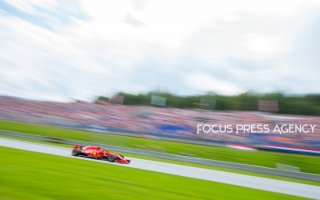 Sebastian Vettel of Germany and Scuderia Ferrari driver goes during the qualification at Austrian Formula One Grand Prix on Jun 30, 2018 in Red Bull Ring, Spielberg, Austria.