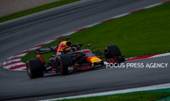 Daniel Ricciardo of Australia and Red Bull Racing driver goes during the qualification at Austrian Formula One Grand Prix on Jun 30, 2018 in Red Bull Ring, Spielberg, Austria.