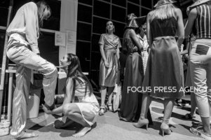 Backstage moments during the Marie Claire Fashion Days 2018 on Nov 3, 2018 at Millenáris in Budapest, Hungary.