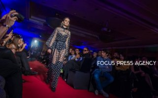 Hungarian fashion designer, Richard Demeter presents a Fashion Show on Nov 28, 2018 at Hotel Sofitel in Budapest, Hungary.