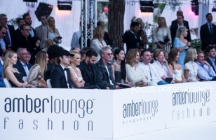 Guests at the Amber Lounge Charity Fashion Show 2019 in Monte-Carlo, Monaco.