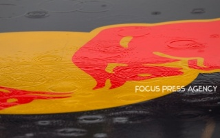 Red Bull Racing car in the rain on Formula 1 Gran Premio Heineken on Sept 06, 2019 in Monza, Italy.