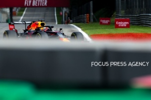 Max Verstappen of Netherland and Red Bull Racing driver goes during the qualification session at Formula 1 Gran Premio Heineken on Sept 07, 2019 in Monza, Italy.
