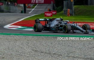 Valtteri Bottas of Finland and Mercedes AMG Petronas driver goes during the qualification session at Formula 1 Gran Premio Heineken on Sept 07, 2019 in Monza, Italy.