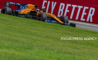 Carlos Sainz of Spain and McLaren F1 Team driver goes during the qualification session at Formula 1 Gran Premio Heineken on Sept 07, 2019 in Monza, Italy.
