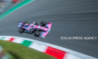 Lance Stroll of Canada and Racing Point driver goes during the qualification session at Formula 1 Gran Premio Heineken on Sept 07, 2019 in Monza, Italy.