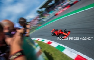 Sebastian Vettel of Germany and Scuderia Ferrari driver goes during the qualification session at Formula 1 Gran Premio Heineken on Sept 07, 2019 in Monza, Italy.