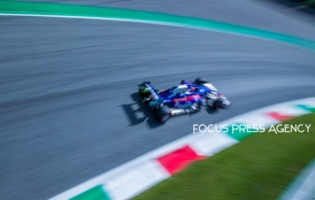 Daniil Kvyat of Russia and Toro Rosso driver goes during the qualification session at Formula 1 Gran Premio Heineken on Sept 07, 2019 in Monza, Italy.