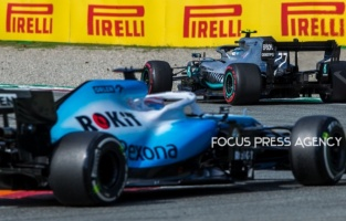 Valtteri Bottas of Finland and Mercedes AMG Petronas driver goes during the race at Formula 1 Gran Premio Heineken on Sept 08, 2019 in Monza, Italy.