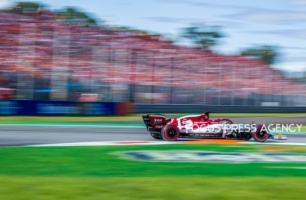 Kimi Räikkönen of Finland and Alfa Romeo Racing F1 Team driver goes during the race at Formula 1 Gran Premio Heineken on Sept 08, 2019 in Monza, Italy.