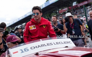 Charles Leclerc of Monte-Carlo and Scuderia Ferrari driver before the race at Formula 1 Gran Premio Heineken on Sept 08, 2019 in Monza, Italy.