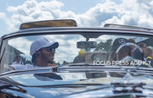 Lewis Hamilton of Great Britain and Mercedes AMG Petronas driver before the race at Formula 1 Gran Premio Heineken on Sept 08, 2019 in Monza, Italy.
