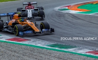 Lando Norris of Great Britain and McLaren F1 Team driver goes during the race at Formula 1 Gran Premio Heineken on Sept 08, 2019 in Monza, Italy.