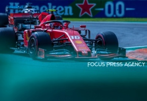 Charles Leclerc of Monte-Carlo and Scuderia Ferrari driver goes during the race at Formula 1 Gran Premio Heineken on Sept 08, 2019 in Monza, Italy.