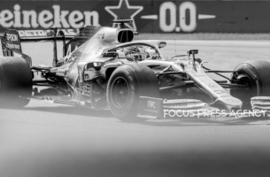 Lewis Hamilton of Great Britain and Mercedes AMG Petronas driver goes during the race at Formula 1 Gran Premio Heineken on Sept 08, 2019 in Monza, Italy.