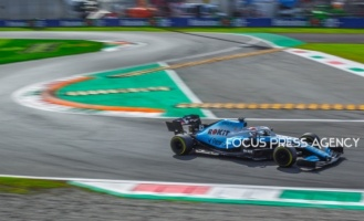 George Russell of Great Britain and Williams Racing driver goes during the race at Formula 1 Gran Premio Heineken on Sept 08, 2019 in Monza, Italy.